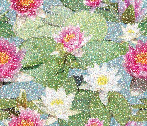 Lily Pond fabric by erijoyjoy on Spoonflower - custom fabric