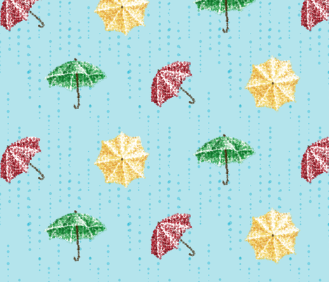 Umbrella Droplets fabric by destructogirl on Spoonflower - custom fabric