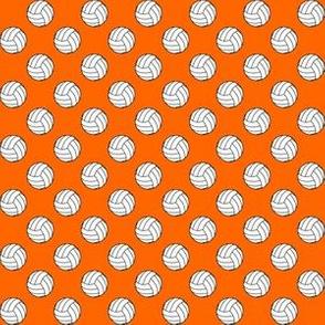 Half Inch Black and White Sports Volleyball Balls on Orange