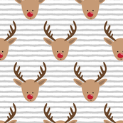 rudolph  - reindeer - grey stripes