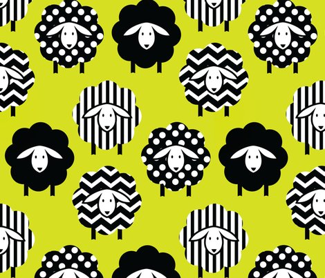 6801567_black_and_white_sheep_on_lime_yellow_green_2_shop_preview