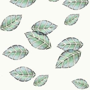 Falling - grey/aqua/green