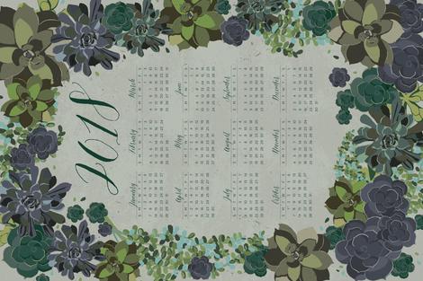 2018_calendar fabric by guntercreative on Spoonflower - custom fabric
