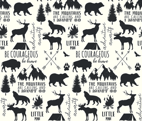 In the Wild Woodland fabric by hipkiddesigns on Spoonflower - custom fabric