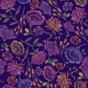 Passion Flowers {Indigo}