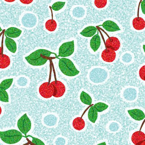 Cherry_Pointillism fabric by hollykz on Spoonflower - custom fabric