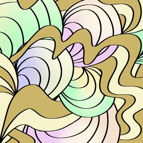 Pearly_Shells_N Seaweed  fabric by house_of_heasman on Spoonflower - custom fabric