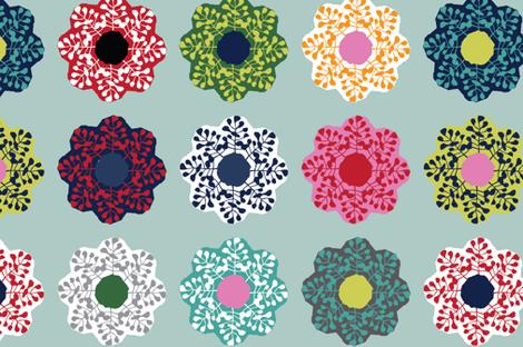 Multi_Bloom fabric by missmoresby on Spoonflower - custom fabric