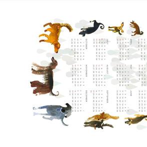 Calendar 2018 Dog Year