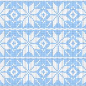 Skandinavian knitted light blue pattern