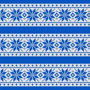 Skandinavian blue knitted pattern