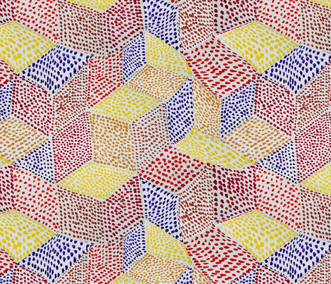 point_cubes fabric by belana on Spoonflower - custom fabric