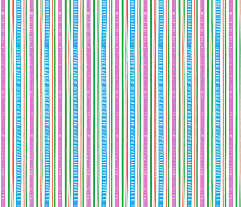 Ruffle Flower Stripes 2 fabric by engravogirl on Spoonflower - custom fabric