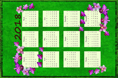 2018_Purple_Orchid fabric by ladyfayne on Spoonflower - custom fabric
