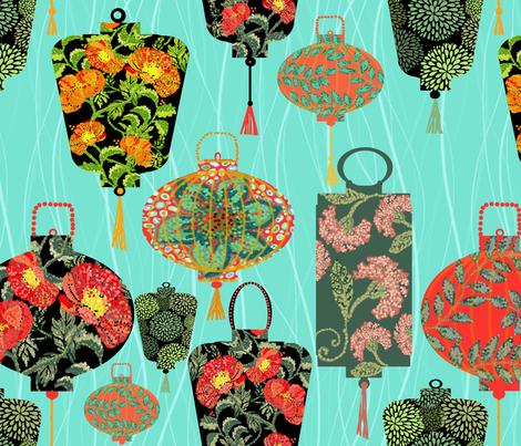 Lanterns On Point fabric by honoluludesign on Spoonflower - custom fabric