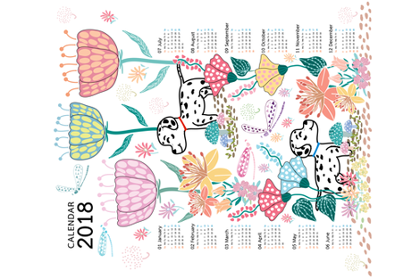 Calendar2018 : Wonderful Day  fabric by y_me_it's_me on Spoonflower - custom fabric