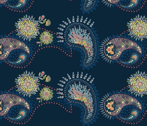 PointillismPaisley fabric by clarkyworks on Spoonflower - custom fabric