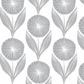 Praise the sun // rows of flowers grey