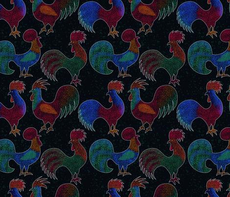 pointillism-proud cocks fabric by freevam on Spoonflower - custom fabric