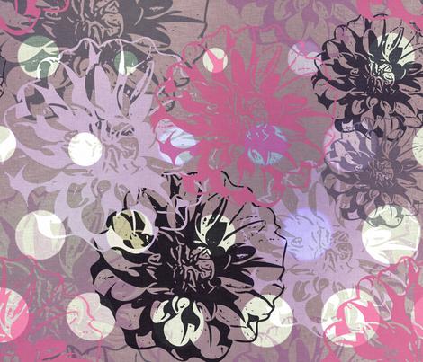 Dotty Flowers  fabric by dejareve on Spoonflower - custom fabric