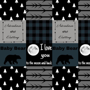 Spruce Color - Baby bear - love you to the moon - wholecloth