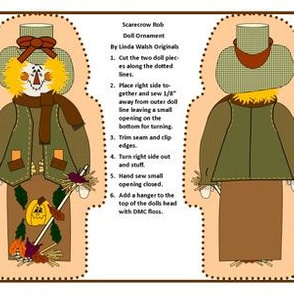 Scarecrow Rob Cut and Sew Doll