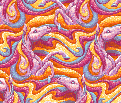 Rainbow Horses fabric by hollybender on Spoonflower - custom fabric