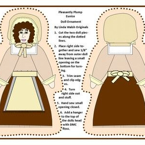 Pleasantly Plump Eunice Cut and Sew Doll