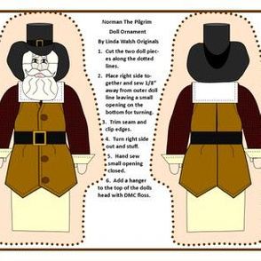 Norman The Pilgrim Cut and Sew Doll