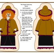 The Proper Scarecrow Nancy Cut and Sew Doll