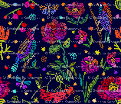 Pointillism_Birds