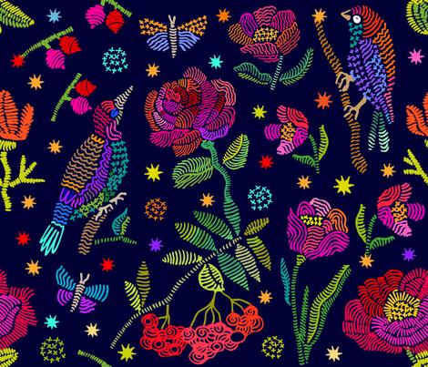 Pointillism_Birds fabric by svetlana_kononova on Spoonflower - custom fabric