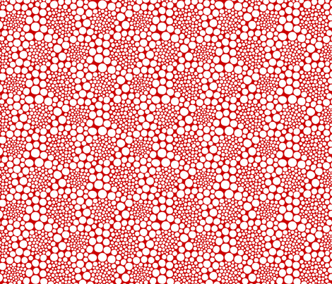 KUSAMA - white on red fabric by isabelc on Spoonflower - custom fabric