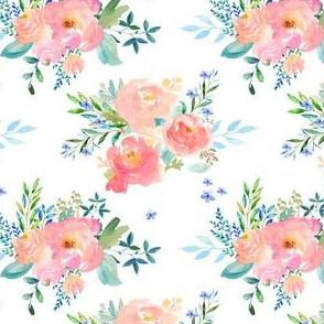"4"" Floral Sweet Pastel / White"