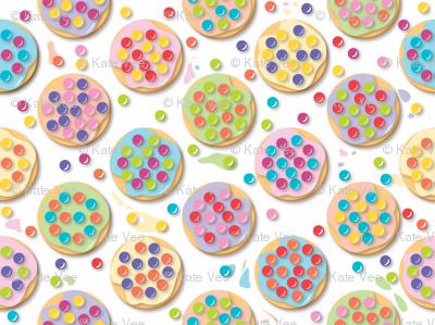 Principles of Pointillism Cookies