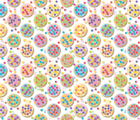Principles of Pointillism Cookies fabric by colour_angel_by_kv on Spoonflower - custom fabric