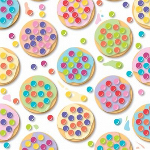 Principles of Pointillism Cookies