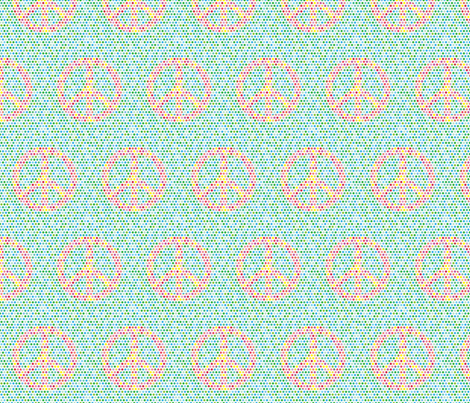 Peace fabric by lucielou on Spoonflower - custom fabric