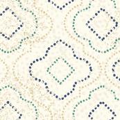 Moroccan Pointillism Distressed