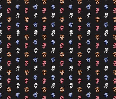 Skull Mini CR fabric by veesanchez on Spoonflower - custom fabric