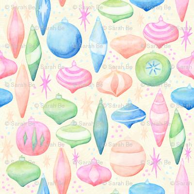 Retro Ornaments Cream Background