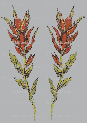 Indian Paintbrush in Dots