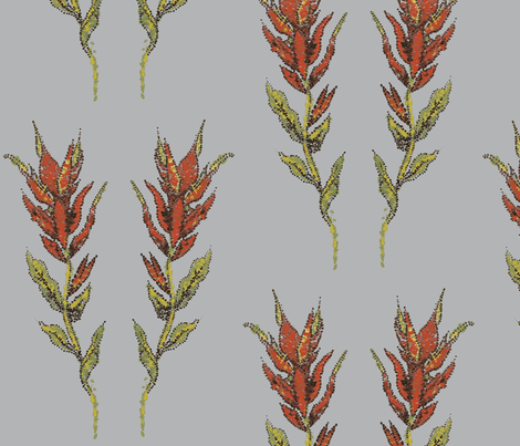 Indian Paintbrush in Dots fabric by micaela_cimino on Spoonflower - custom fabric