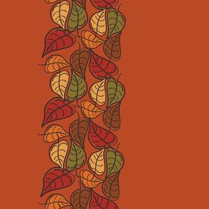 Fallen Leaves Border on Pumpkin Spice
