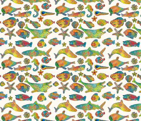Dotty Fish fabric by acheartist on Spoonflower - custom fabric
