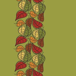 Fallen Leaves Border on Avocado