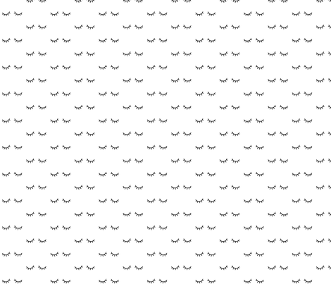mod baby » just sleepy eyes black fabric by misstiina on Spoonflower - custom fabric
