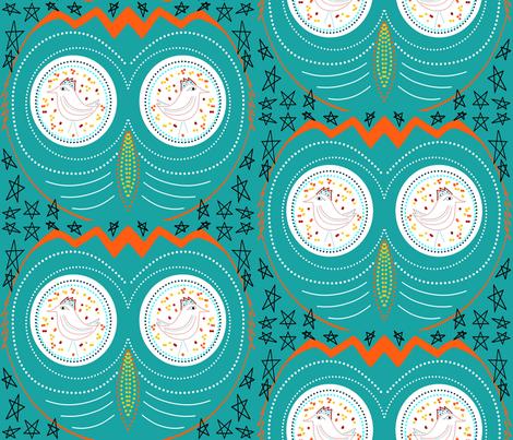Owls on Birdwatch sewindigo fabric by sewindigo on Spoonflower - custom fabric