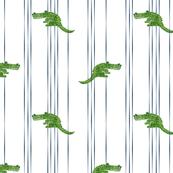 alligator-pointillism