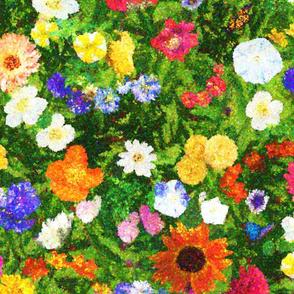 Floral Abundance Pointillism
